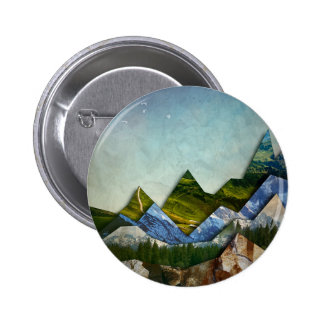 Mountain Range 6 Cm Round Badge