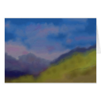 Mountain Range Art Card