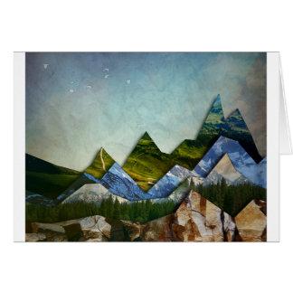 Mountain Range Card