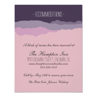 """Mountain Range"" Wedding Details Card 4.25""x5.5"""