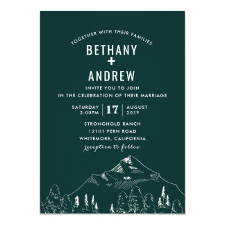 Mountain Range Wedding Invitation