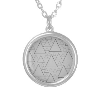 mountain ranges and day trips silver plated necklace