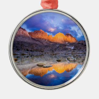 Mountain reflection, California Metal Ornament