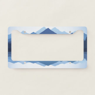 Mountain Reflections Design License Plate Frame
