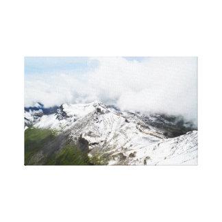 Mountain ridge in the Swiss alps Canvas Print