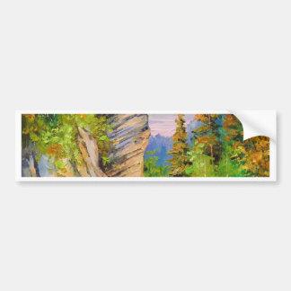 Mountain river bumper sticker