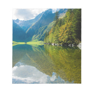 Mountain river green landscape notepad