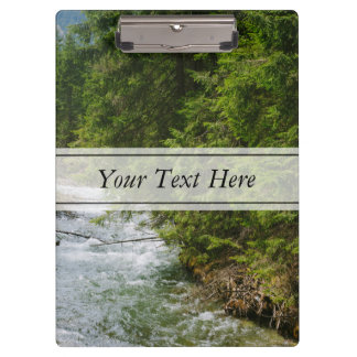 Mountain River In A Valley, Nature, Landscape Clipboard