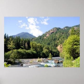 Mountain River Print
