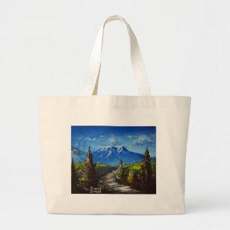Mountain Road Large Tote Bag