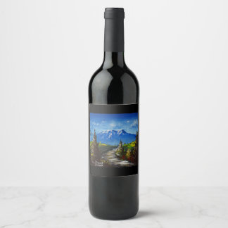 Mountain Road Wine Label