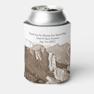 Mountain Rock Climbing Wedding Favor Can Cooler