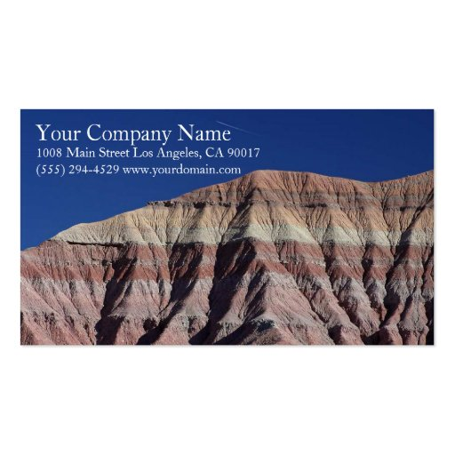 Mountain Rocky Desert Blue Sky Business Card Templates
