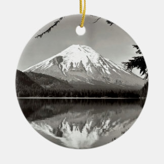 Mountain Saint Helens And Spirit Lake Ceramic Ornament