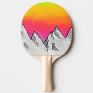 Mountain Scene Landscape Ping Pong Paddle