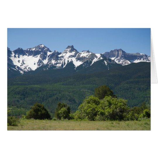 Mountain Scenic Blank Notecard