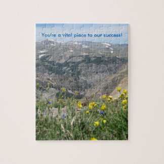 "Mountain Scenic Puzzle - ""You're a vital piece"""