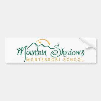 Mountain Shadows Bumper Sticker Transparent