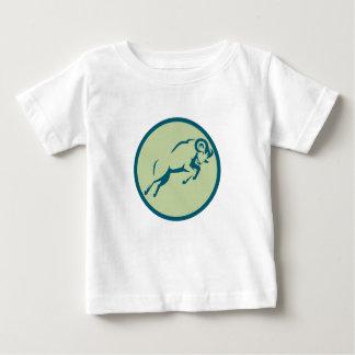 Mountain Sheep Jumping Circle Icon Baby T-Shirt