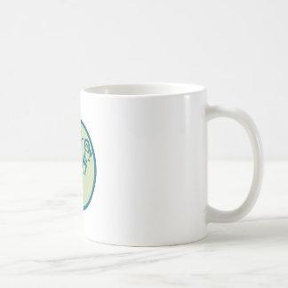 Mountain Sheep Jumping Circle Icon Coffee Mug