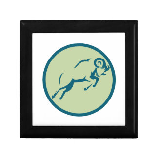 Mountain Sheep Jumping Circle Icon Gift Box