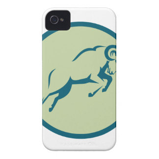 Mountain Sheep Jumping Circle Icon iPhone 4 Covers