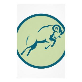 Mountain Sheep Jumping Circle Icon Stationery