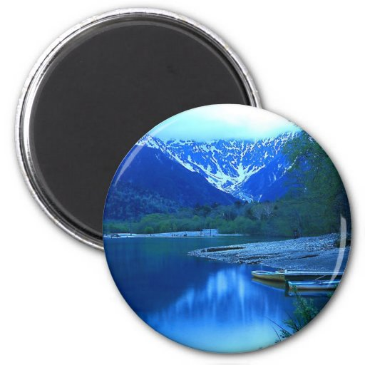 mountain shore refrigerator magnets