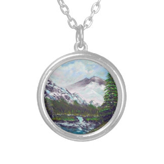 mountain silver plated necklace