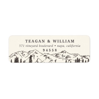 Mountain Sketch Return Address Return Address Label