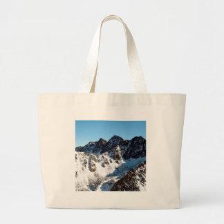Mountain Snow Covering Canvas Bag