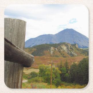 Mountain Square Paper Coaster