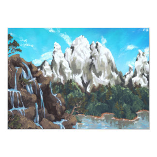 Mountain Stream 13 Cm X 18 Cm Invitation Card