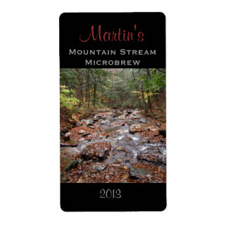 Mountain Stream Homebrew Label