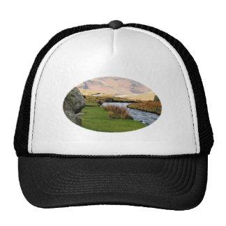 Mountain Stream Landscape Mesh Hat