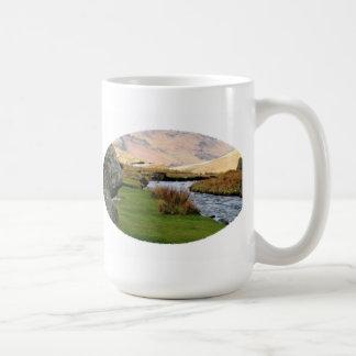 Mountain Stream Landscape Mugs