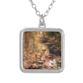 Mountain Stream Silver Plated Necklace