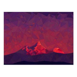 Mountain Sunrise Abstract Art Postcard