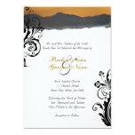 "Mountain Sunrise Wedding Invitation 5"" X 7"" Invitation Card"