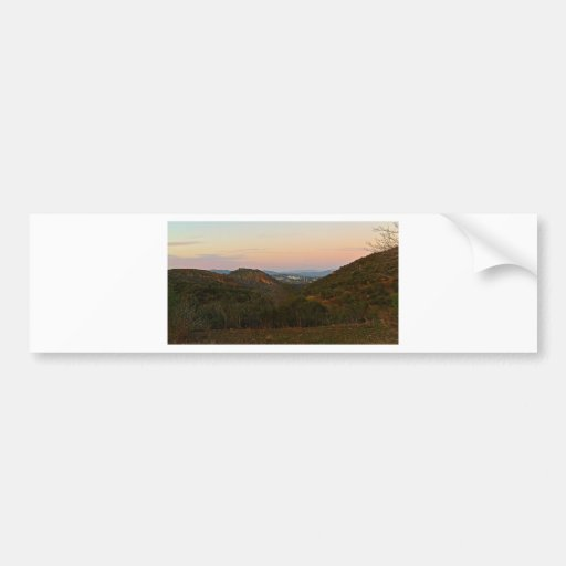 mountain sunset bumper stickers