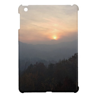 mountain sunset in a haze case for the iPad mini
