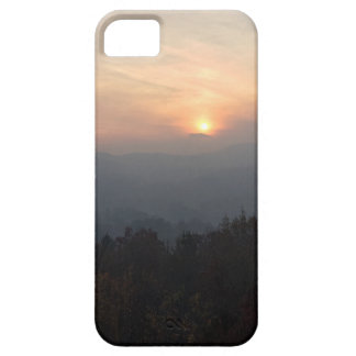 mountain sunset in a haze iPhone 5 cover