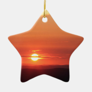 Mountain Sunset in the Shenandoah Ceramic Star Decoration