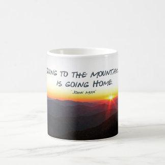 Mountain Sunset Star Shaped / John Muir quote Coffee Mugs