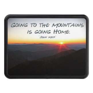 Mountain Sunset Star Shaped / John Muir quote Trailer Hitch Cover