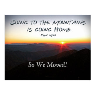 Mountain Sunset Star Shaped / Muir Address Chg Postcard