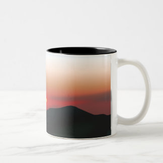 Mountain Sunset Two-Tone Coffee Mug