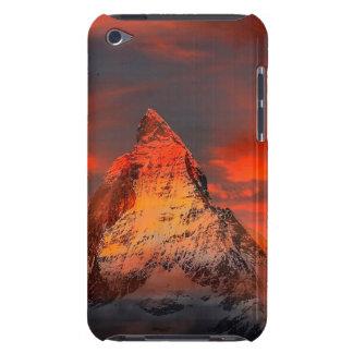 Mountain Switzerland Matterhorn Zermatt Red Sky Barely There iPod Cases