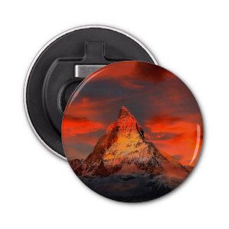 Mountain Switzerland Matterhorn Zermatt Red Sky Bottle Opener