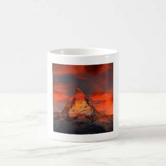 Mountain Switzerland Matterhorn Zermatt Red Sky Coffee Mug